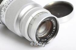 Leica M39 Leitz Wetzlar Elmar 4/90 Leica Screw Mount Lens 4/9cm chrom