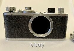 Leica Standard Model E (chrome) with Leitz Elmar 3.5cm f/3.5 chrome lens