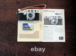Leica iiic 3c + leitz Elmar 50mm f3.5 lens + English instructions