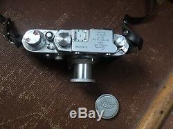 Leica iiif Film Camera Red Dial Version 1956 -leitz Elmar Lens Great Condition