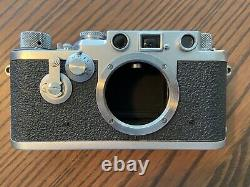 Leica iiif Red Dial Self Timer with Leitz Elmar 50mm f/3.5 Lens