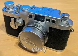 Leica iiig Camera with Leitz Elmar 50mm f/2.8 Collapsible Lens