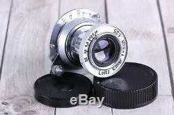 Leica lens Zeiss Eleitz Wetzlar Leitz Elmar 3.5/50 mm M39 silver