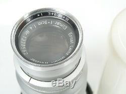 Leitz ELMAR 90mm 14 4/90 Nr. 1338562 für schraub screw mount Leica M39