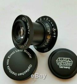 Leitz Elmar 3.5/50 mm RF M39 Lens LEICA Zeiss Eleitz Wetzlar Black