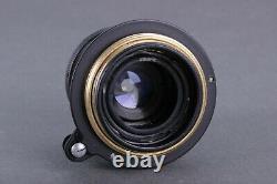Leitz Elmar 3.5/50 mm RF M39 Lens LEICA Zeiss Eleitz Wetzlar Black Lens