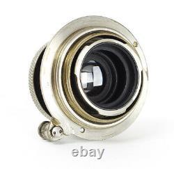 Leitz Elmar 3.5/5cm f/3.5 5cm Nickel for LTM M39 Leica Screw Mount No. 224090