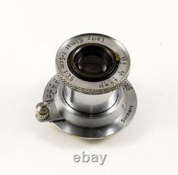 Leitz Elmar 5 cm 3.5 numéro 969885 + pare-soleil 50 mm