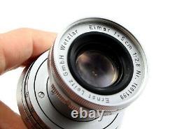 Leitz Elmar 50mm f/2.8 (5cm 12.8) Lens with Cap Leica M Mount Leitz Wetzlar