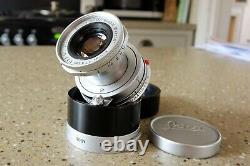 Leitz Elmar 50mm f/2.8 (5cm 12.8) Lens with Cap and ITOOY hood Leica M Mount