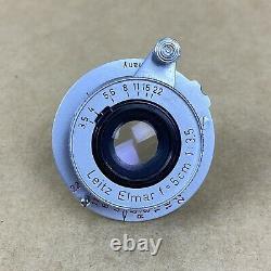 Leitz Elmar 5cm 3.5 Red Scale Vintage Screwmount Lens NICE