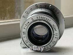 Leitz Elmar Copy Lens 13.5 F=5cm, Collapsible 50mm Prime LEICA M39 SCREW MOUNT