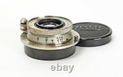 Leitz Elmar Nickel Ekurzkup 3.5/35mm f/3.5 Early M39 LTM Mount Boxed No. 171758