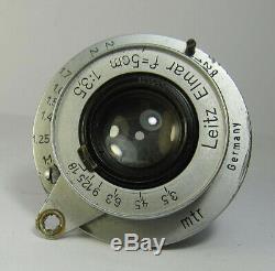 Leitz Elmar f=5cm 13,5 M 39 Screw Lens to Leica camera 569821