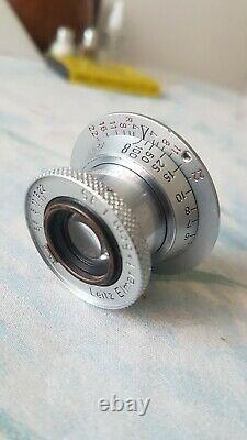 Leitz LEICA IIF Red Dial with ELMAR 3,5/5cm Germany Red Scale Lens M39