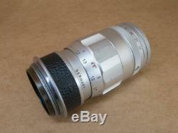 Leitz Leica 3 ELEMENT 90mm 14 Elmar Lens 1962 Screw mount