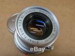 Leitz Leica 50mm 12.8 Elmar Lens M Mount 1958