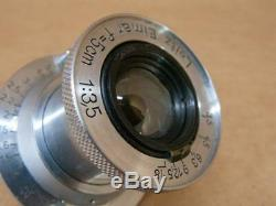 Leitz Leica 50mm 13.5 Elmar Lens uncoated 1941