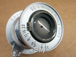 Leitz Leica 5cm 13.5 Elmar Red Scale Lens 1952