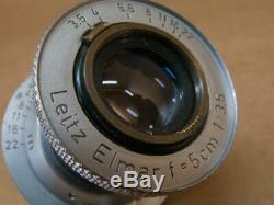 Leitz Leica 5cm 13.5 Elmar Red Scale Lens 1953
