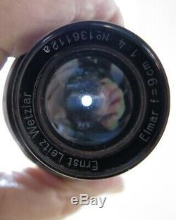 Leitz Leica 90mm f/4 Elmar- FAT ELMAR- Screw Mount, Wetzlar, Germany, 1932