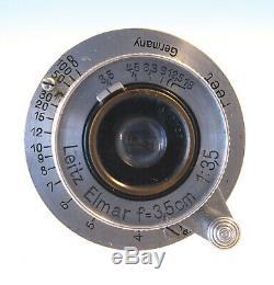 Leitz Leica Elmar 35mm 13,5 Objektiv M 39 schraub lens 31387