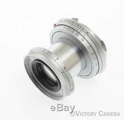 Leitz Leica Elmar 5cm 50mm f2.8 Lens LTM Feet -Mod. Haze- (9106-12)