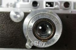 Leitz Leica III a, vintage 35mm rangefinder camera, lens Elmar 3,5/50mm