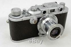 Leitz Leica III b DRP, vintage 35mm camera, lens Elmar 13,5 f=5cm, pre war 1939