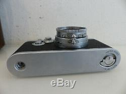 Leitz Leica III g DBP Analog Kamera + Elmar f=5cm 12.8 Objektiv Lens DEFEKT
