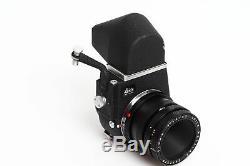 Leitz / Leica M Elmar 3.5/65mm Black w. Visoflex III w. Prism Finder & Box