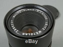 Leitz Leica MACRO-ELMAR-R 4/100 3-cam, für for R3-R7(R8/9) und and SL/SL2 Top