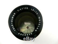 Leitz Leica Objektiv Wetzlar Tele Elmar M bayonet 2459367 135 mm F4 12575N jn002