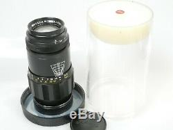 Leitz Leica TELE-ELMAR M 4/135 14/135mm Berg-und Tal Fassung schön + Leitz Dose