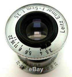 Leitz Leica Wetzlar Elmar 5 cm f3,5 red scale M39 1049265 VALOO jm101