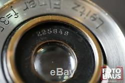Leitz Wetzlar Elmar 3.5cm f/3.5 1934 Leica 35mm no 225848 chrome LTM M39 L39 LSM