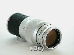 Leitz Wetzlar Germany Leica 135mm F4 Elmar+m Mount+frt Cap+ Case+nice Sharp Lens