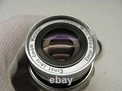 Leitz Wetzlar Leica Elmar-M 14/90mm fat collapsible Lens Germany TOP