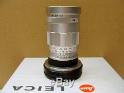 Leitz Wetzlar Leica Elmar-M 14/90mm silbern 3-Linser Sammlerstück RAR