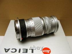 Leitz Wetzlar Leica Elmar-M 14/90mm silbern Sammlerstück mit Hood TOP
