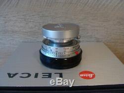 Leitz Wetzlar Leitz Leica Elmar-M 12.8/50mm chrom Standard Lens TOP