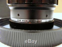 Leitz Wetzlar Leitz Tele Elmar-M 14/135mm schwarz M-mount Lens TOP