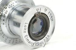 Leitz collapsible ELMAR 50mm f3,5 lens Leica LTM screw mount from 1950