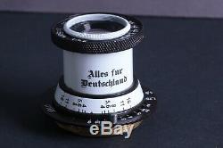 Lens Ernst Leitz Elmar 3.5/50 mm RF M39 Zeiss Eleitz Wetzlar LEICA FED ZorkiBW