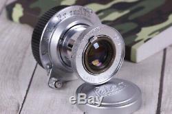 Lens Leitz Elmar 3.5/50 mm RF M39 Silver Zeiss Eleitz Wetzlar LEICA FED Zorki