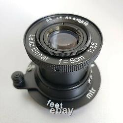 Lens Leitz Elmar 3.5/50 mm black RF M39 LEICA Zeiss