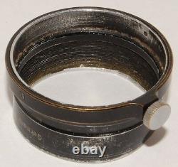 Lens hood for 5cm Elmar, Ernst Leitz Wetzlar, Germany, early black FISON