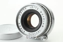 MINT FedEx Leitz Wetzlar Elmar 50mm f/2.8 Manual Focus Lens Silver From JAPAN