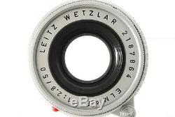 NEAR MINT+++ LEICA LEITZ WETZLAR ELMAR 50mm F/2.8 LENS SLIVER LEICA M MOUNT