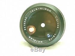 NEAR MINT LEICA LEITZ WETZLAR TELE-ELMAR 135mm F/4 M MOUNT from JAPAN #50